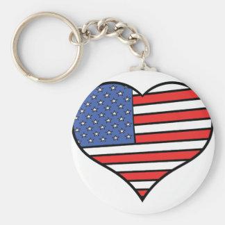 Ik houd van de trots van Amerika - van de Sleutelhanger