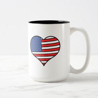 Ik houd van de trots van Amerika - van de Tweekleurige Koffiemok