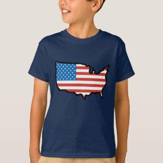 Ik houd van de Vlag van Amerika - van Verenigde T Shirt