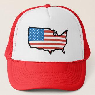 Ik houd van de Vlag van Amerika - van Verenigde Trucker Pet