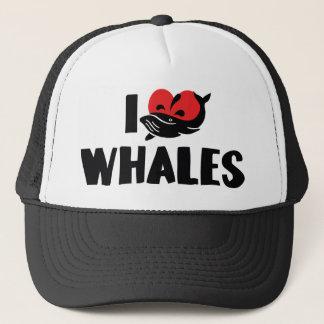 Ik houd van de Walvissen van het Hart - de Minnaar Trucker Pet