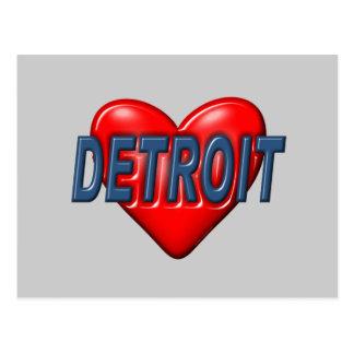 Ik houd van Detroit Briefkaart