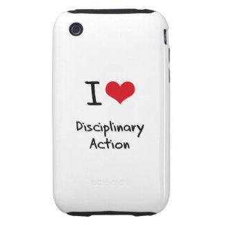 Ik houd van Disciplinaire Actie Tough iPhone 3 Cases