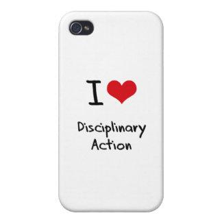 Ik houd van Disciplinaire Actie iPhone 4/4S Cover
