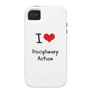 Ik houd van Disciplinaire Actie Vibe iPhone 4 Case
