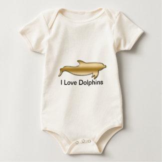 Ik houd van Dolfijnen Baby Shirt