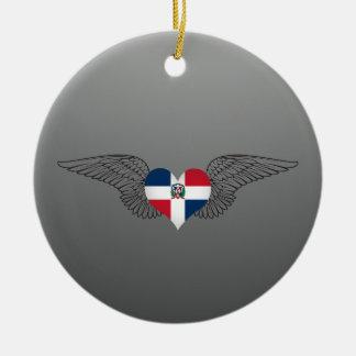 Ik houd van Dominicaanse Republiek - vleugels Rond Keramisch Ornament