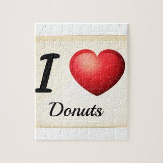 Ik houd van donuts puzzel