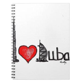 Ik houd van Doubai Ringband Notitieboeken