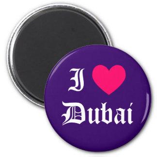 Ik houd van Doubai Ronde Magneet 5,7 Cm