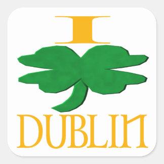 Ik houd van Dublin Vierkante Sticker
