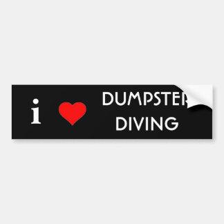 Ik houd van Duik Dumpster Bumpersticker