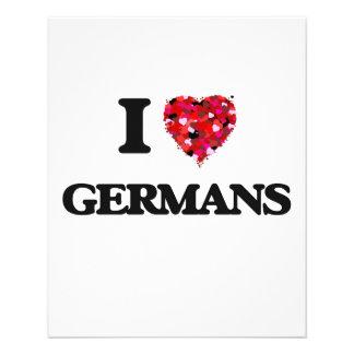 Ik houd van Duitsers Flyer 11,4 X 14,2 Cm