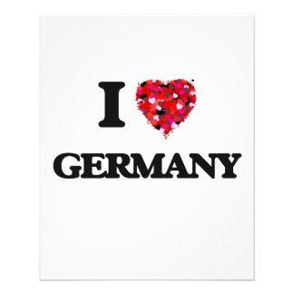 Ik houd van Duitsland Flyer 11,4 X 14,2 Cm
