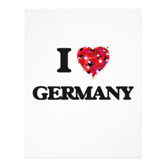 Ik houd van Duitsland Flyer 21,6 X 27,9 Cm