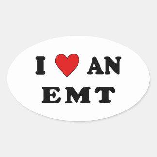 Ik houd van een EMT Ovale Sticker