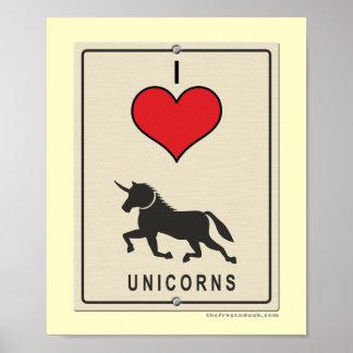 Ik houd van Eenhoorns Poster