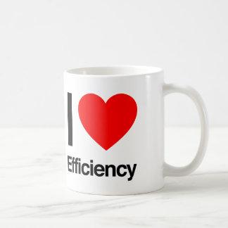 ik houd van efficiency koffiemok