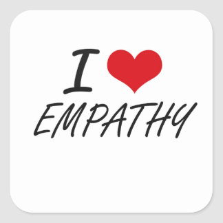 Ik houd van EMPATHIE Vierkante Sticker