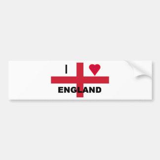 Ik houd van Engeland Bumpersticker