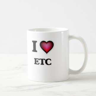 Ik houd van enz. koffiemok