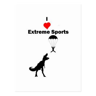 Ik houd van Extreme Sporten Briefkaart