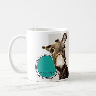 Ik houd van ezels koffiemok