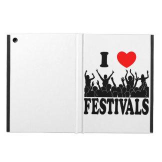 Ik houd van festivallen (blk) iPad air hoesje