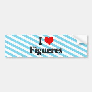 Ik houd van Figueres, Spanje Bumpersticker