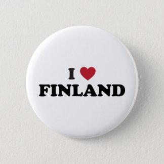 Ik houd van Finland Ronde Button 5,7 Cm