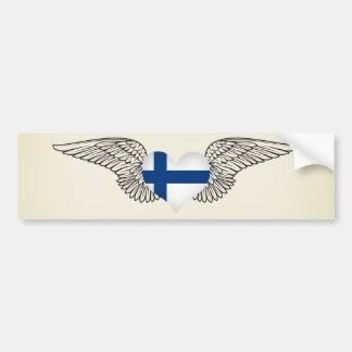 Ik houd van Finland - vleugels Bumpersticker