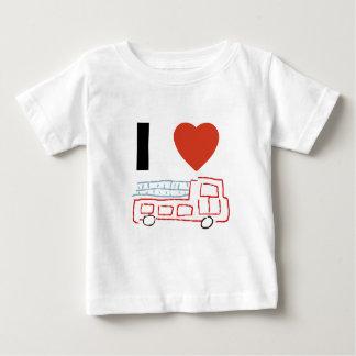 Ik houd van firetrucks baby t shirts