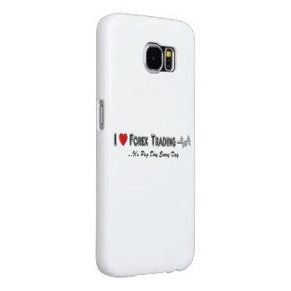 Ik houd van Forex Uitwisselend het Hoesje van Samsung Galaxy S6 Hoesje