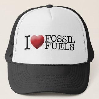 Ik houd van fossiele brandstoffen trucker pet