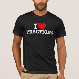 Ik houd van Fracties T Shirt