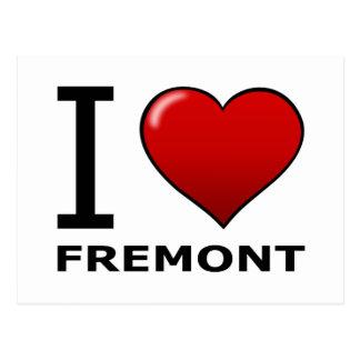IK HOUD VAN FREMONT, CA - CALIFORNIË BRIEFKAART