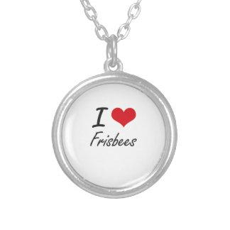 Ik houd van Frisbees Zilver Vergulden Ketting