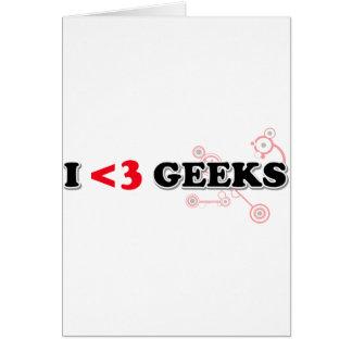 Ik houd van Geeks Wenskaart