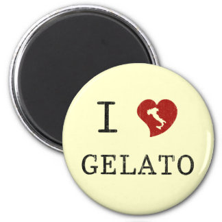 Ik houd van Gelato Ronde Magneet 5,7 Cm