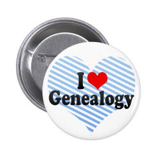 Ik houd van Genealogie Speldbuttons