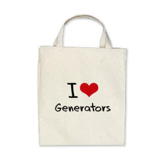 Ik houd van Generators Canvas Tas