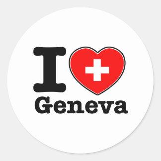 Ik houd van Genève Ronde Sticker