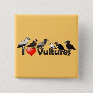 Ik houd van Gieren (Eurasia) Vierkante Button 5,1 Cm