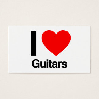 ik houd van gitaren visitekaartjes