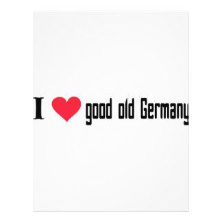 Ik houd van goed oud Duitsland pictogram Gepersonaliseerde Folder