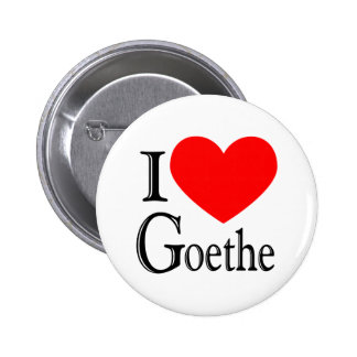 Ik houd van Goethe Ronde Button 5,7 Cm