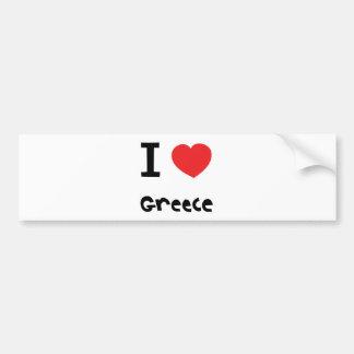 Ik houd van Griekenland Bumpersticker