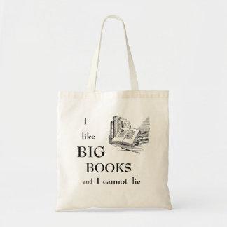 Ik houd van Grote Boeken en ik kan liggen niet Budget Draagtas