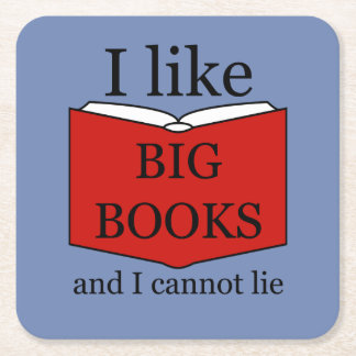 Ik houd van Grote Boeken Vierkante Onderzetter