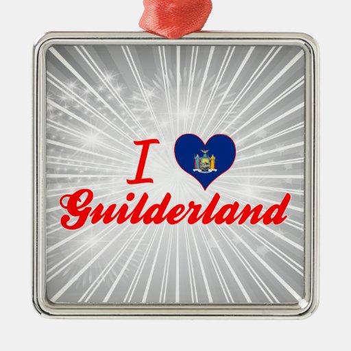 Ik houd van Guilderland, New York Kerst Ornamenten